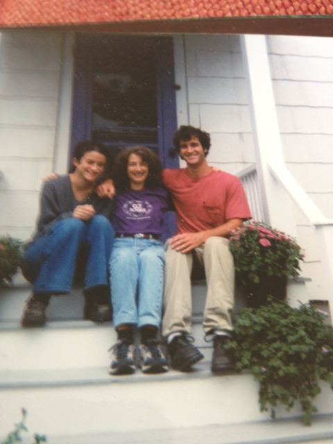 Brook and Ethan as teens with their mama at our Southwest Harbor home.