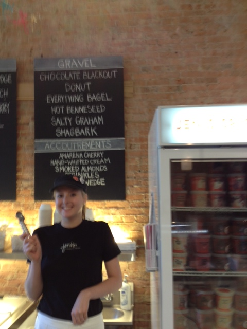 Sammie, our friendly server at Jeni's Splendid Ice Creams