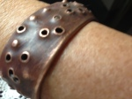 copper bracelet, looks like it's from outer space...