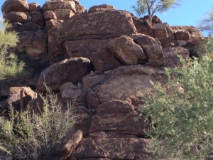 petroglyphs in the Tucson Mountains