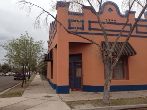 one of the colorful redone adobe buildings in Armory Park