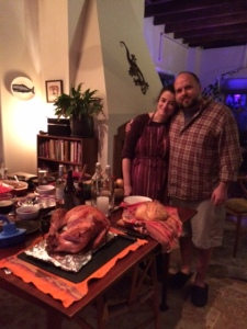 Brook and Gian, Thanksgiving chefs/bakers par excellence!