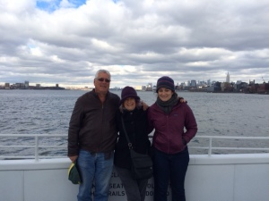 Dan, me and Brook ferrying across the Hudson today
